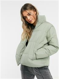 New Look boxy puffer jacket in sage green από το Asos